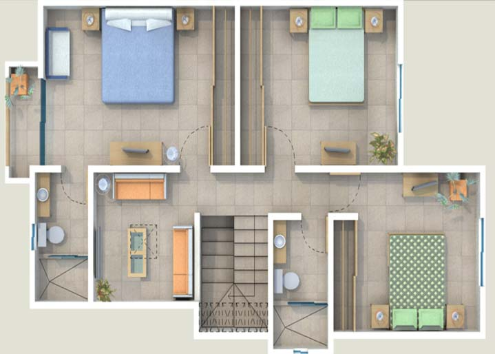 Esta Villa cuenta con 3 Amplias Recamaras, Balcu00f3n, espaciosos closets ...